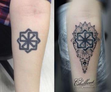 Татуировка исправление дот ворк1
