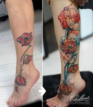 Татуировка маки исправление