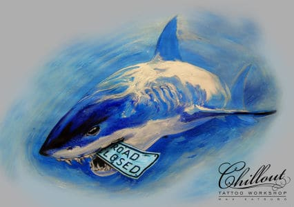 Art тату эскиз Акула