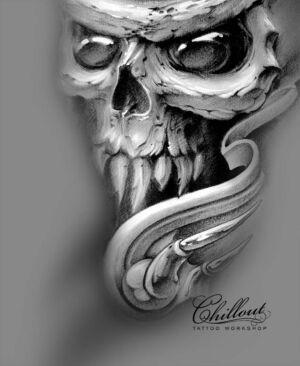 Эскиз череп
