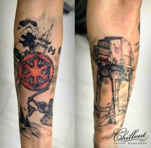Татуировка звездные войны випшейдинг.